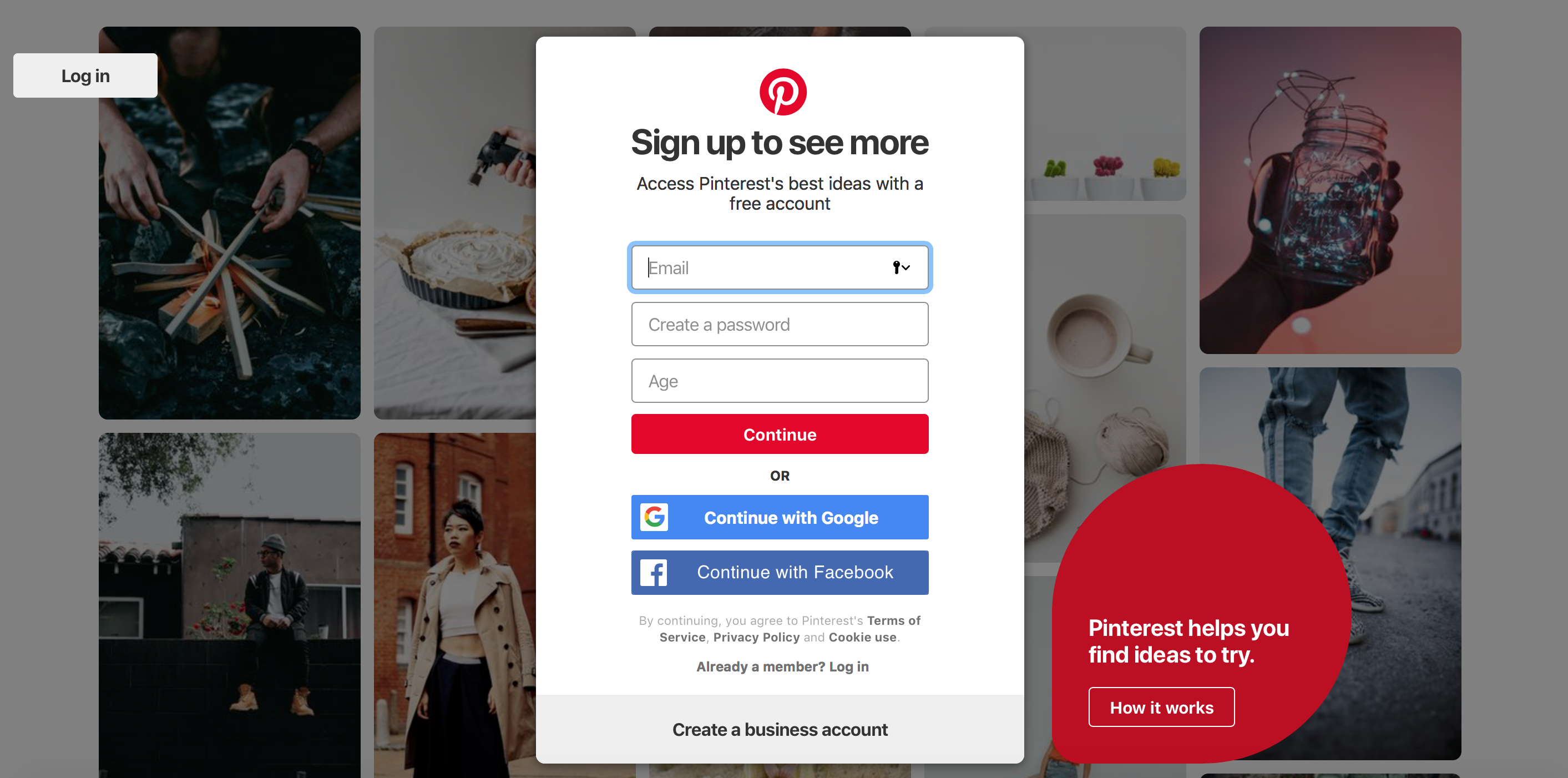 Create a Pinterest account and drive traffic to your blog